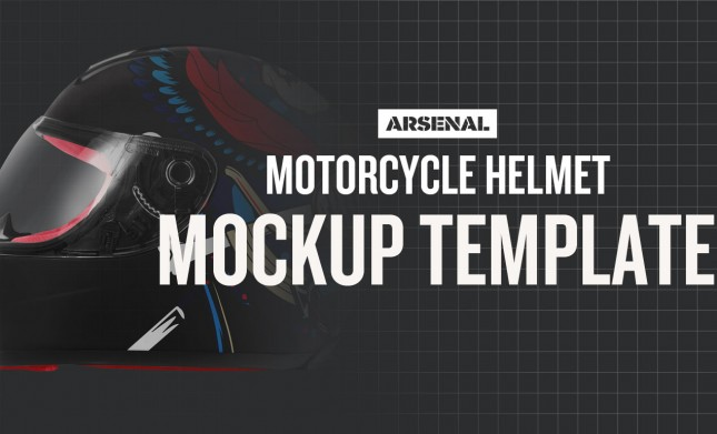 Motorcycle Helmet Mockup Template by Go Media