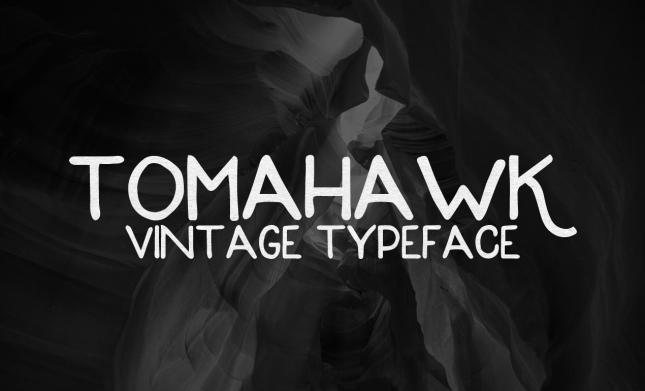 Tomahawk Vintage Typeface - Go Media's Arsenal