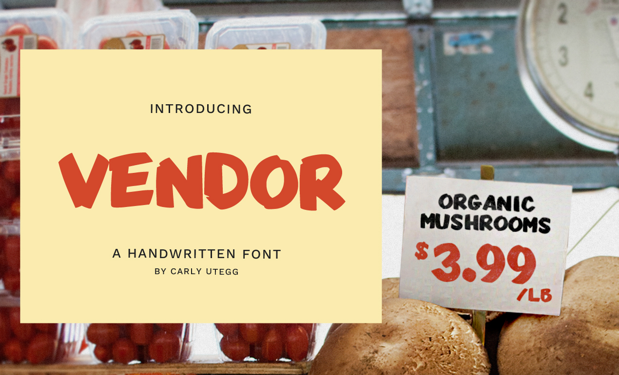 Vendor Handwritten Font