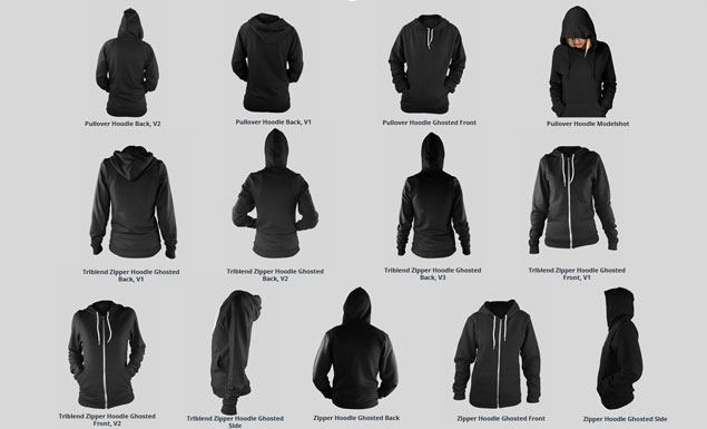 Introducing our Ladies Ghosted Hoodie Mockup Templates Pack