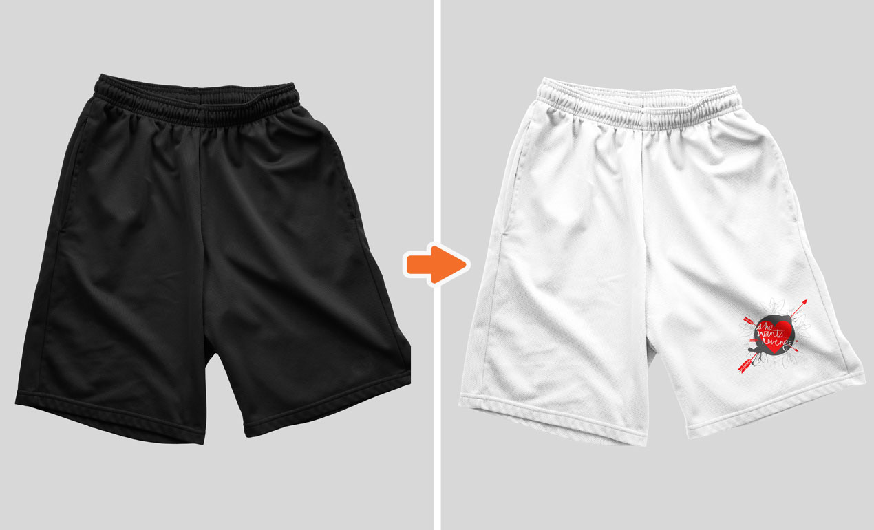 Photoshop Mens Shorts Mockup Templates Pack