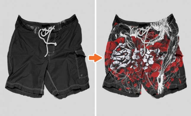 Board Shorts Preview Photoshop Men's Shorts Mockup Templates Pack