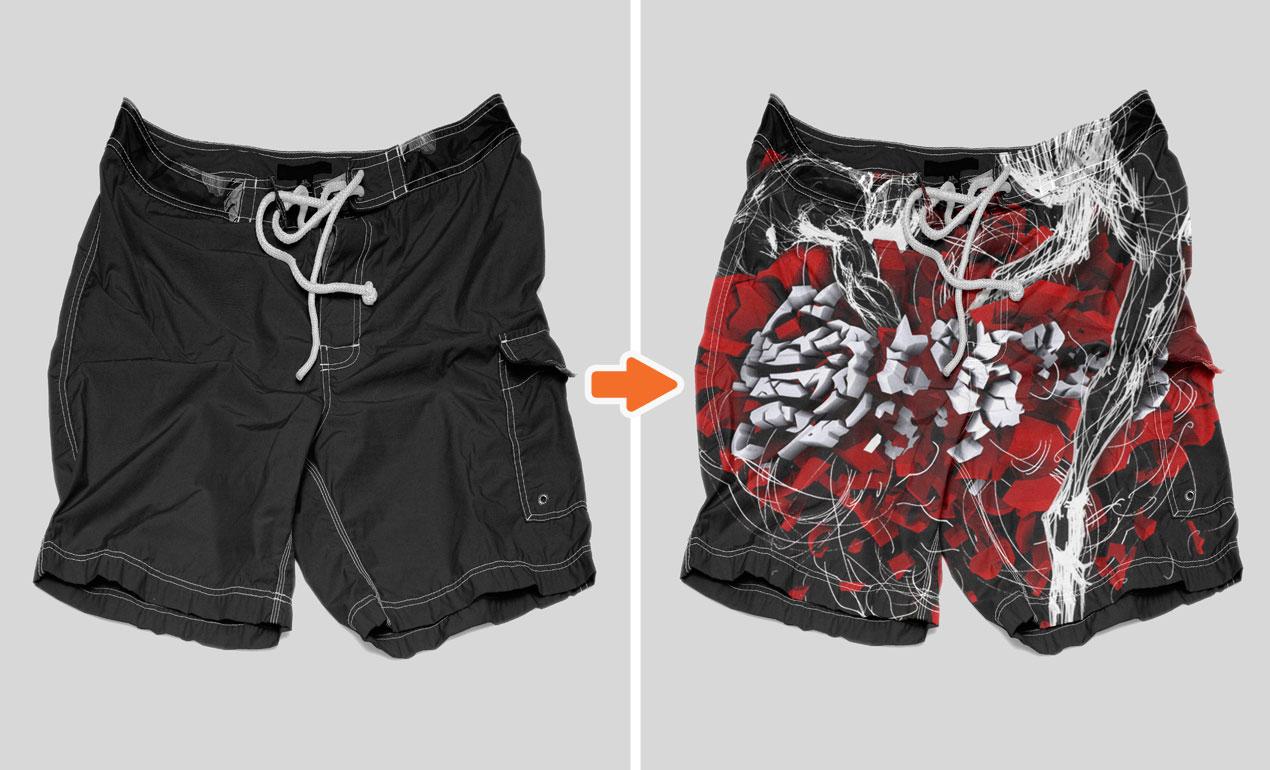 f8d2d6d45f ... Board Shorts Preview Photoshop Men's Shorts Mockup Templates ...