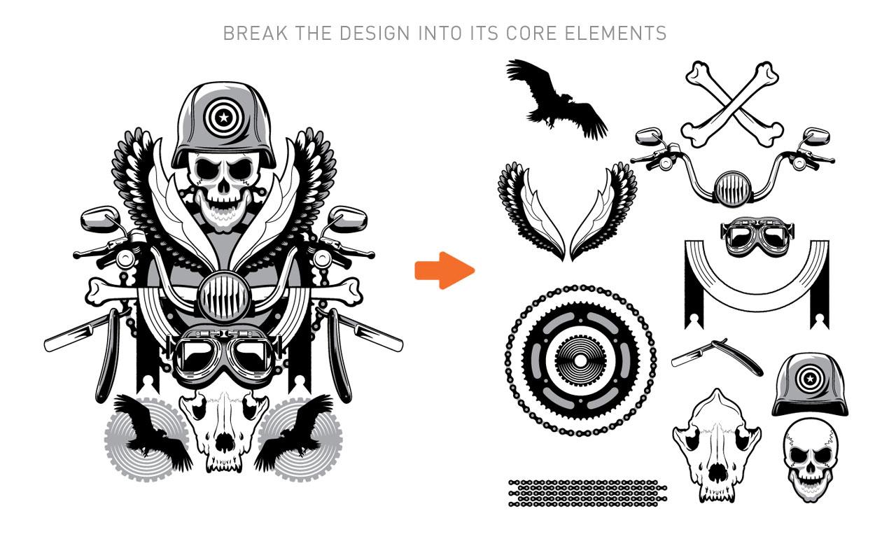 T shirt design vectors - Break The Design
