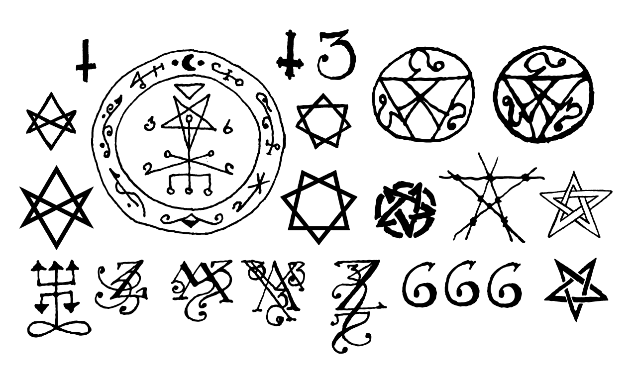 Dark occult symbols vector pack buycottarizona