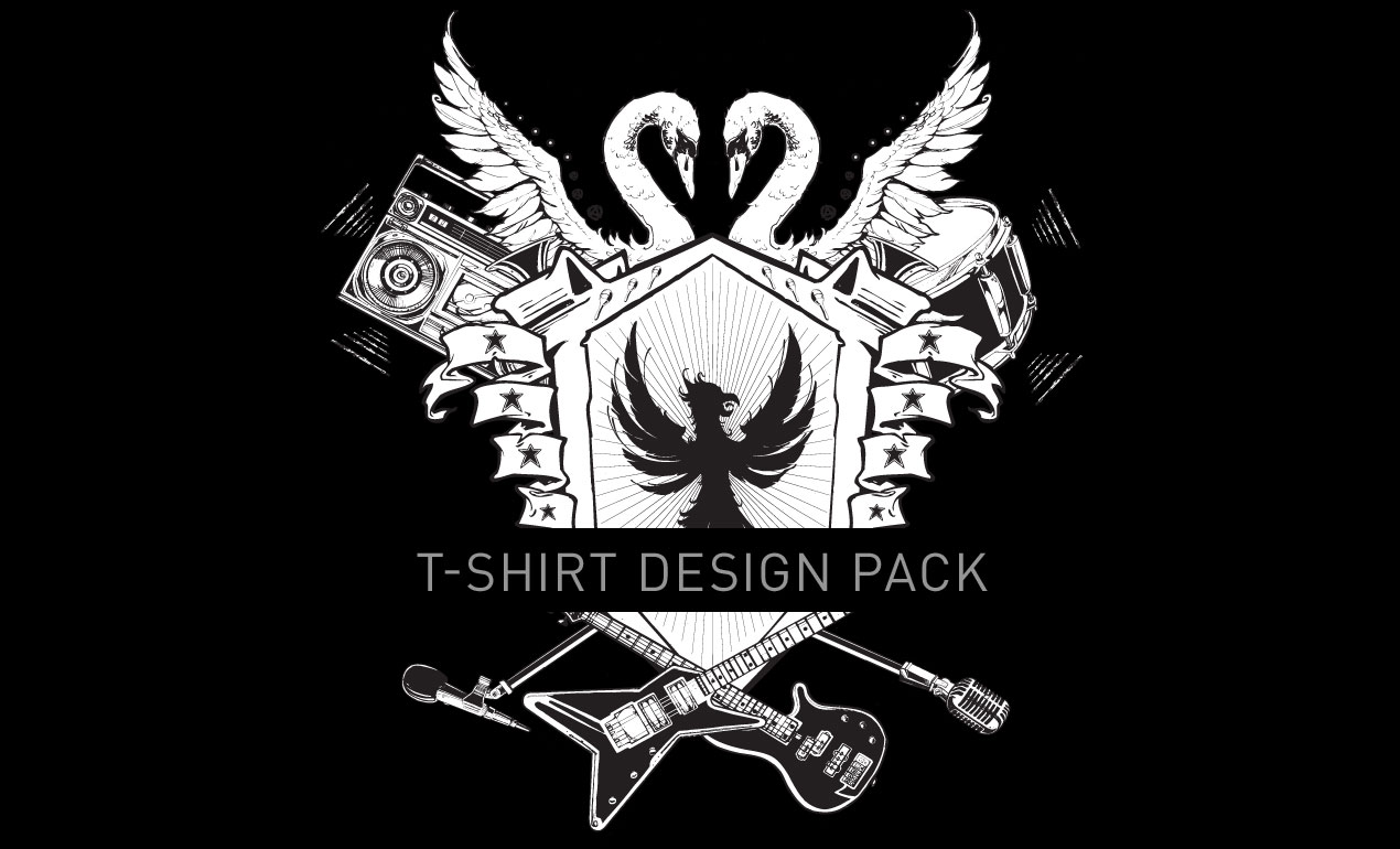 Custom Rock and Roll T-Shirt Design Pack