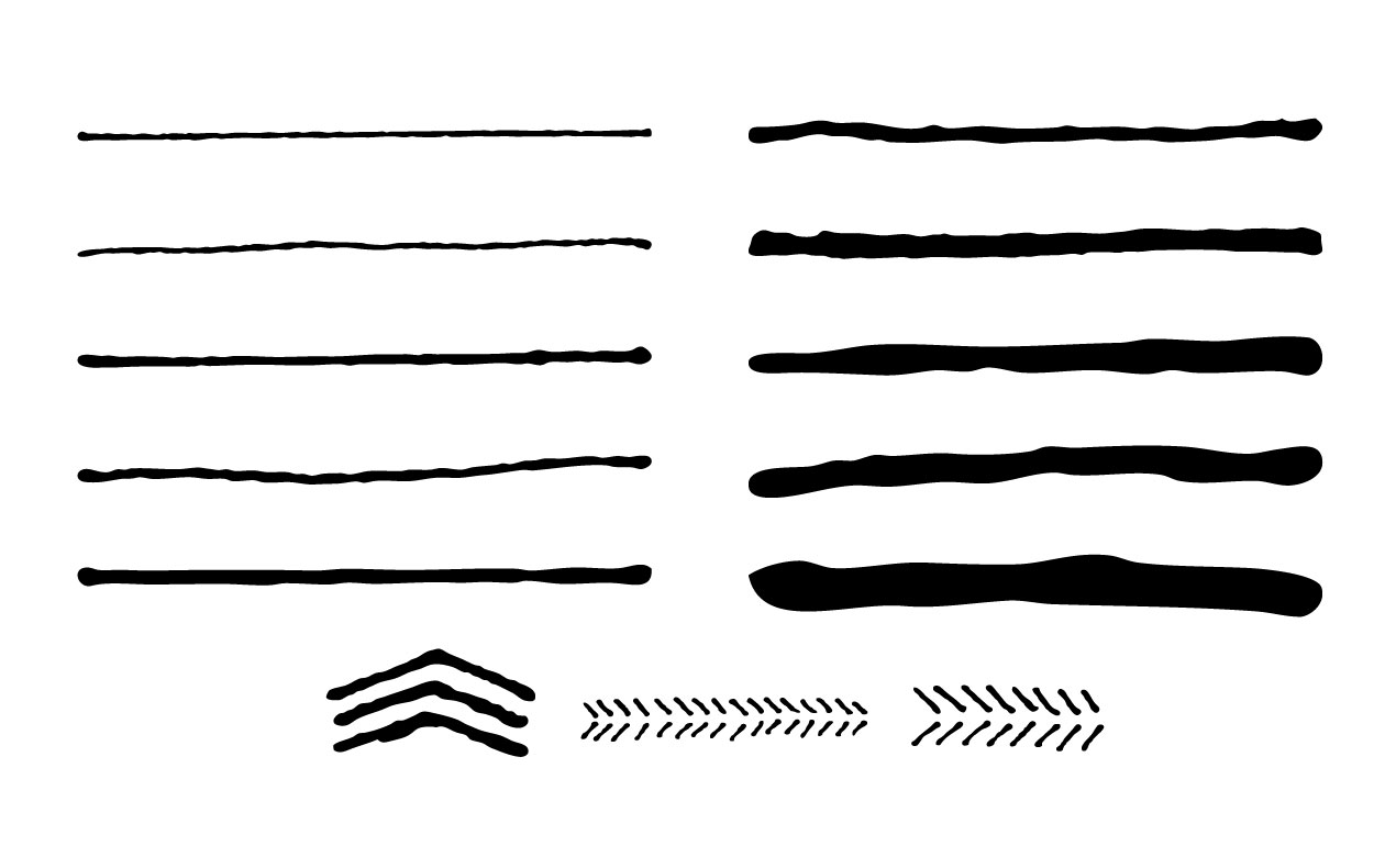 Drawing Vector Lines In Illustrator : Hand drawn vector brushes for adobe illustrator
