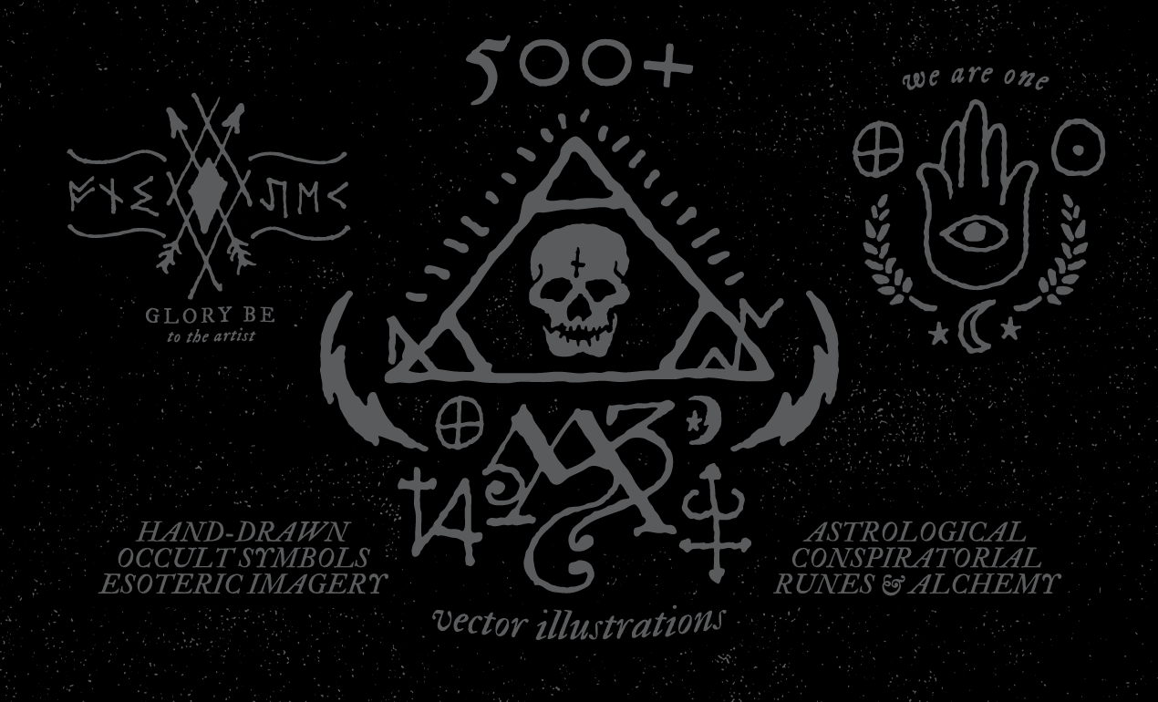 occult symbols and esoteric designs