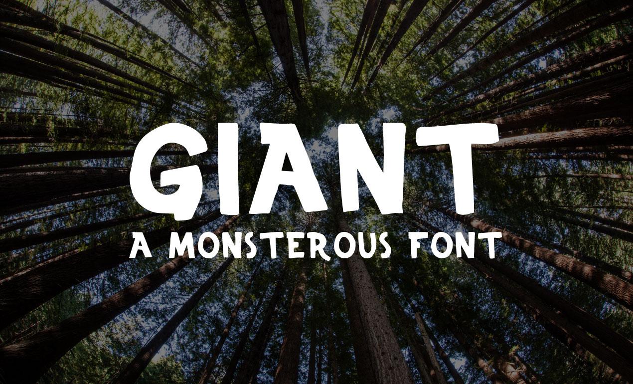 Giant Display Font