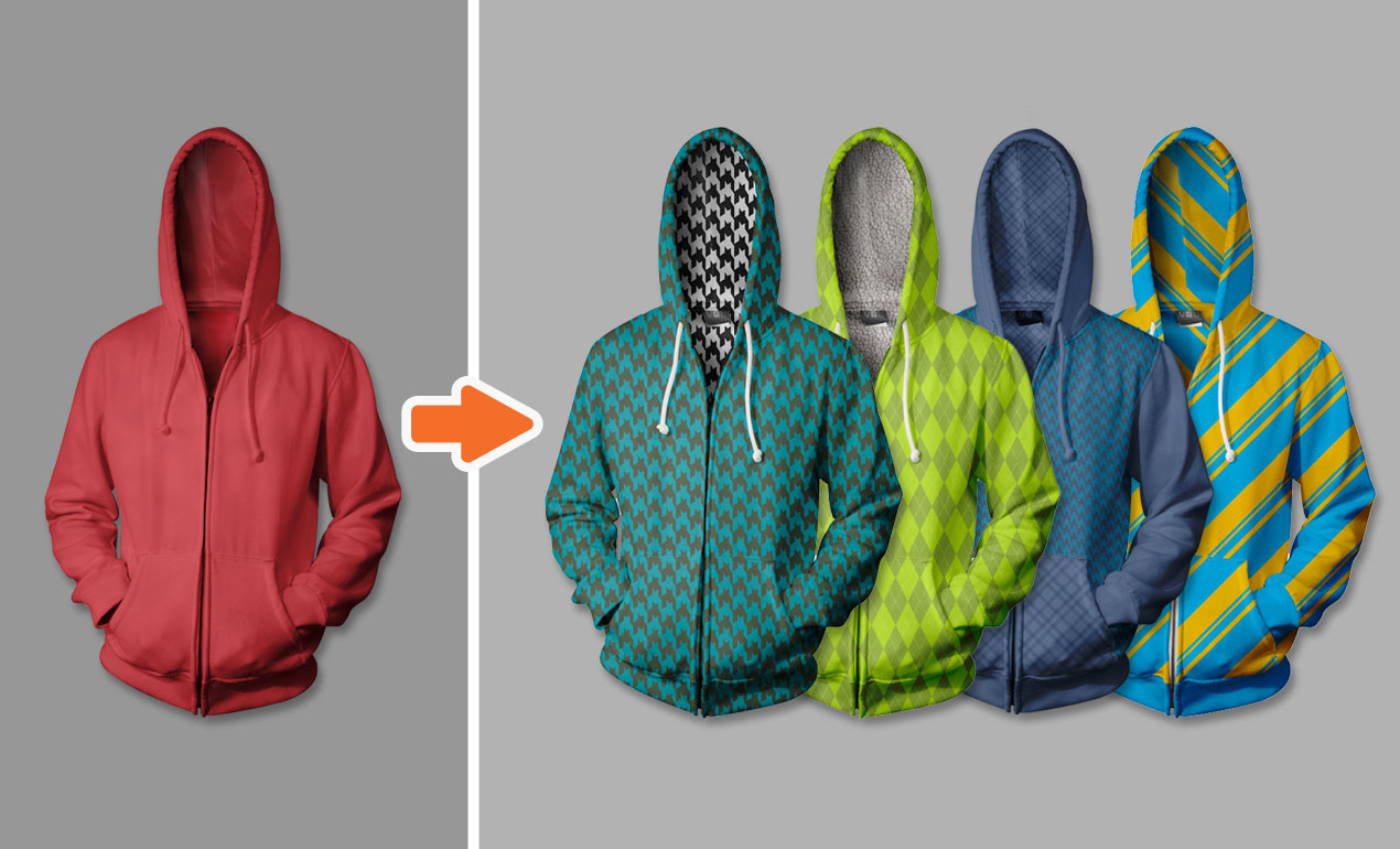 Photoshop Advanced Hoodie Mockup Templates Pack