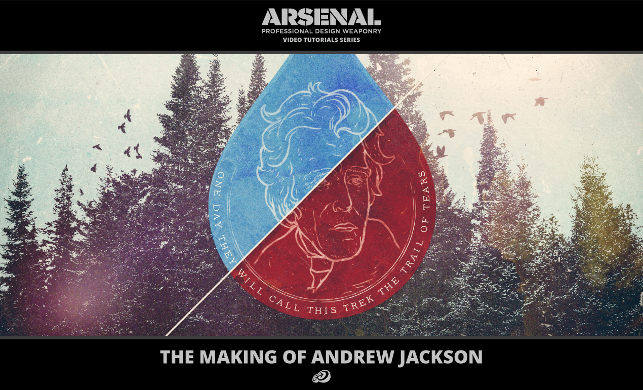 Photoshop and Illustrator Video Tutorial: The Making of Andrew Jackson