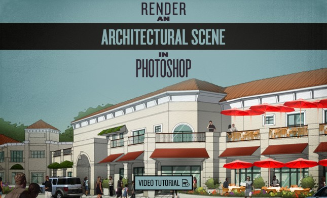 Architectural Scene in Photoshop