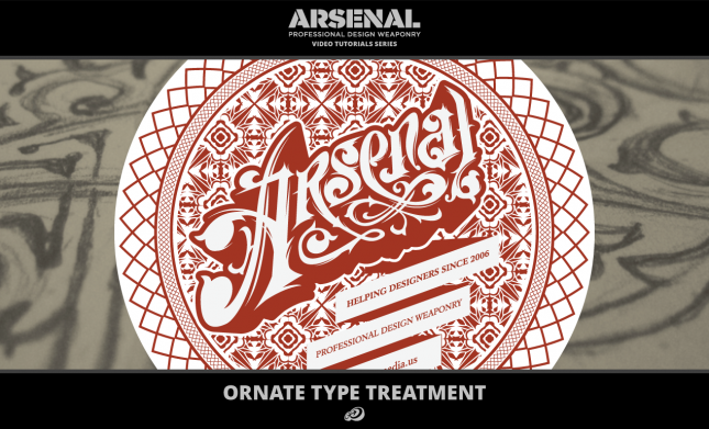 Ornate Type Treatment Video Tutorial for Adobe Illustrator