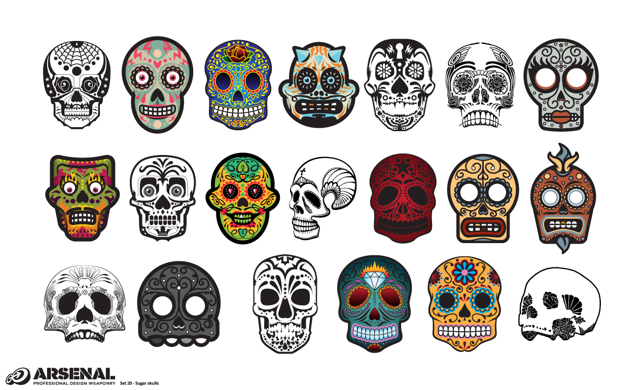 Adobe Illustrator Skull Candy Mexican Sugar Skull