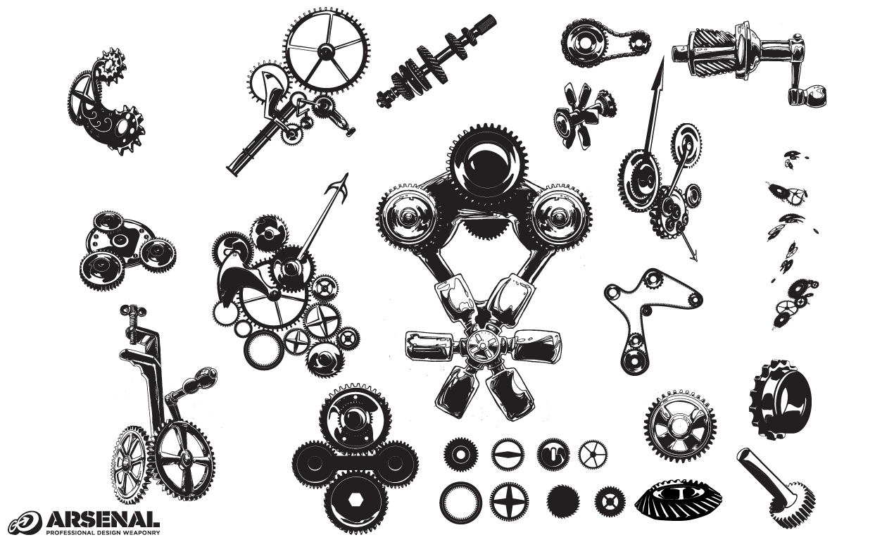 Gears Vector Pack by Go Media's Arsenal