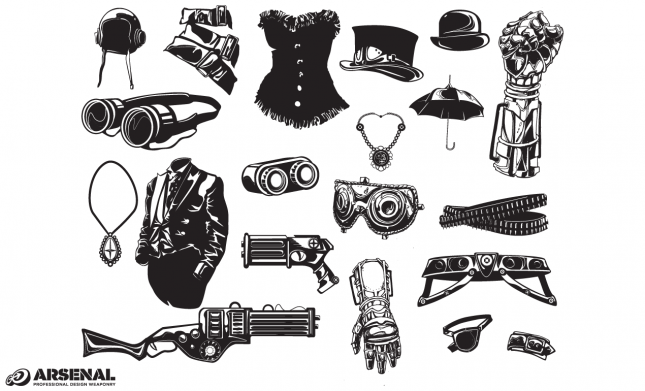 Set 21 Steampunk Fashion Previews All