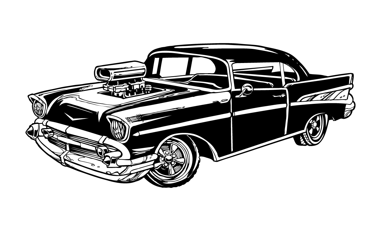 vintage cars vector pack from go media s arsenal 1957 Chevy Art and Graphics 1957 Chevy Art and Graphics