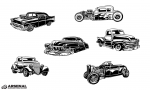 Vintage Cars Vector Pack from Go Media's Arsenal