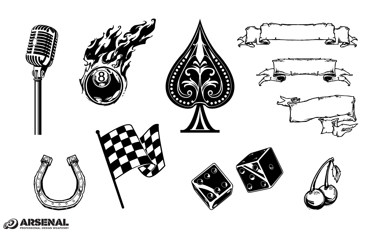 Adobe Illustrator Vintage Symbols Vector Set 22