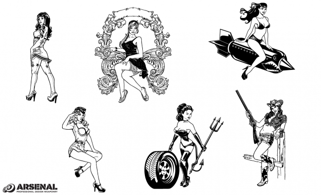 Pin-up Girls Vector Pack