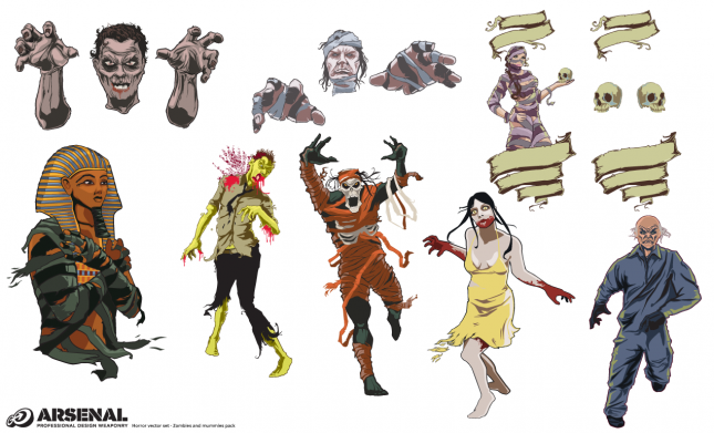 Mummies and Zombies Vector Pack by Go Media's Arsenal