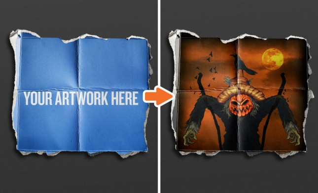 Adobe Photoshop Template Distressed Posters4