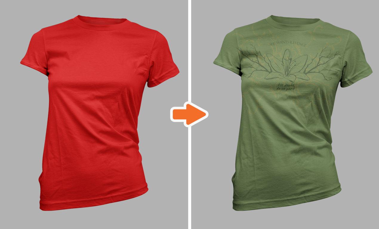 Mockup t shirt black psd -  Adobe Photoshop Template Ladies Ss22