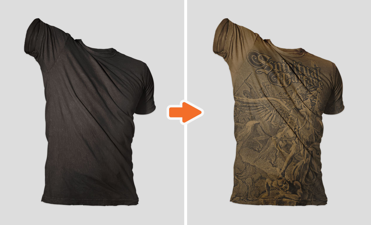 Photoshop distressed shirt mockup templates pack for How to make a distressed shirt