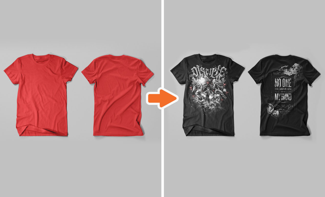 photoshop tshirt templates - Yeni.mescale.co