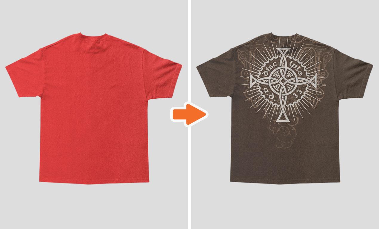 Photoshop Baggy Urban Shirt Mockup Templates Pack - T shirt design photoshop template