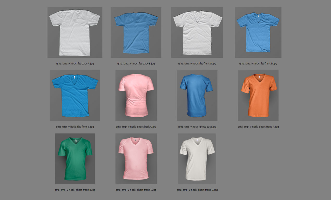 Shirt design photoshop template -  Adobe Photoshop Template Vneck All