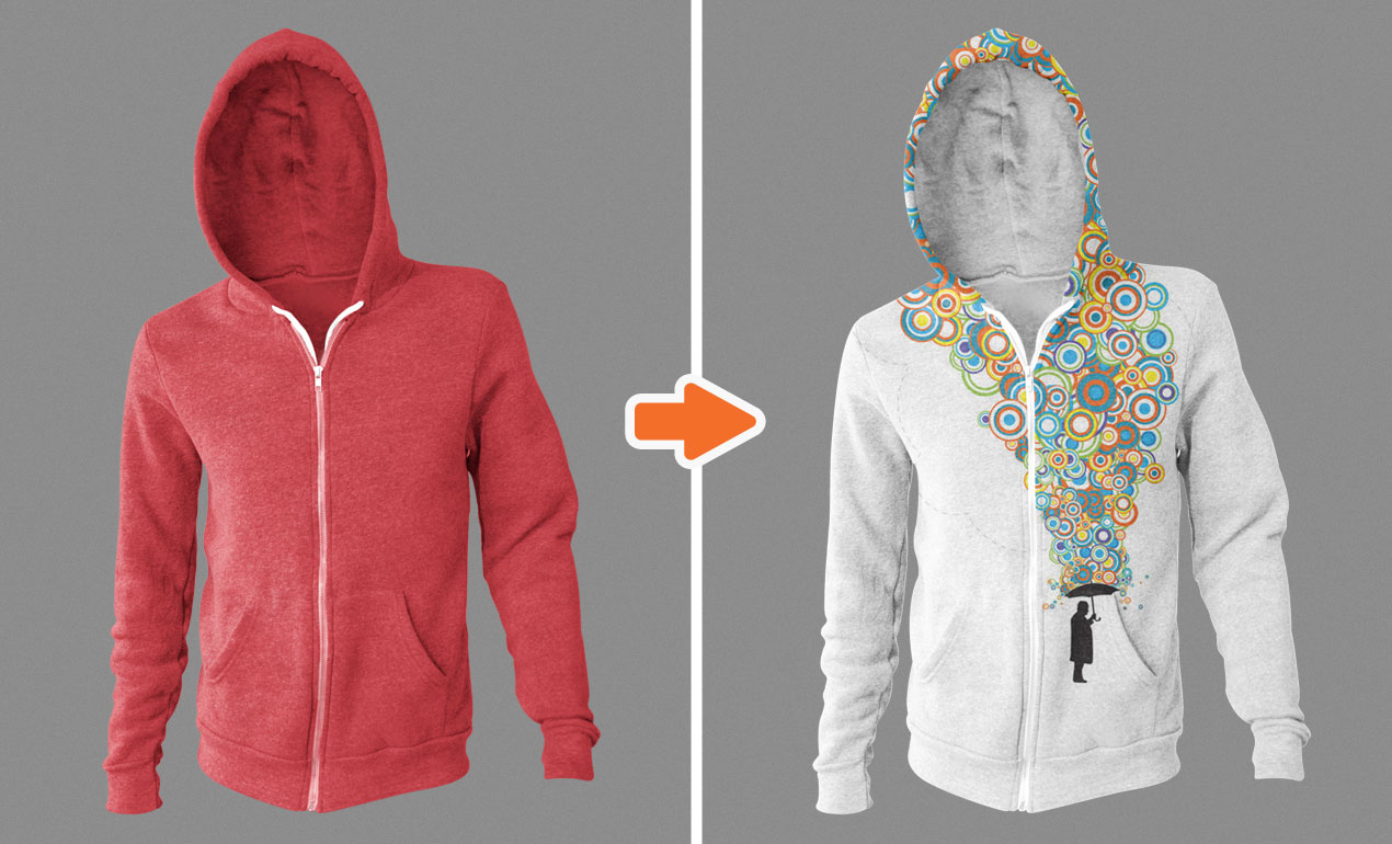Template hoodie template and shirt design template photoshop -  Adobe Photoshop Template Zipper Hoodies Basic2
