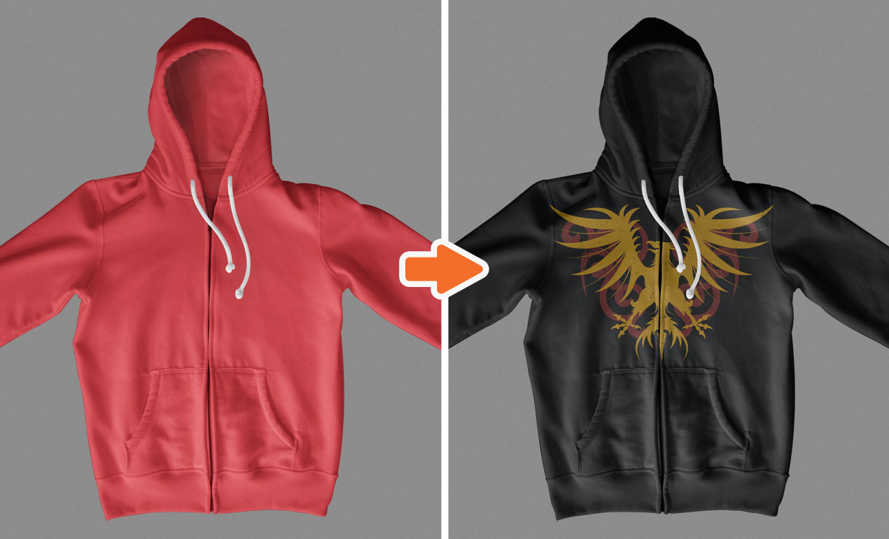 Template hoodie template and shirt design template photoshop -  Adobe Photoshop Template Zipper Hoodies Basic4