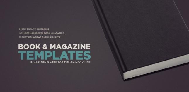Photoshop Book & Magazine Mockup Templates Pack