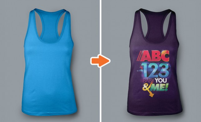 Adobe Photoshop Template Ladies Racerback1