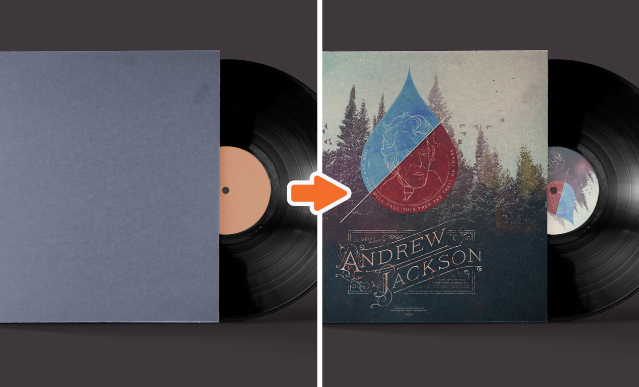 vinyl record mockup template packgo media, Powerpoint templates