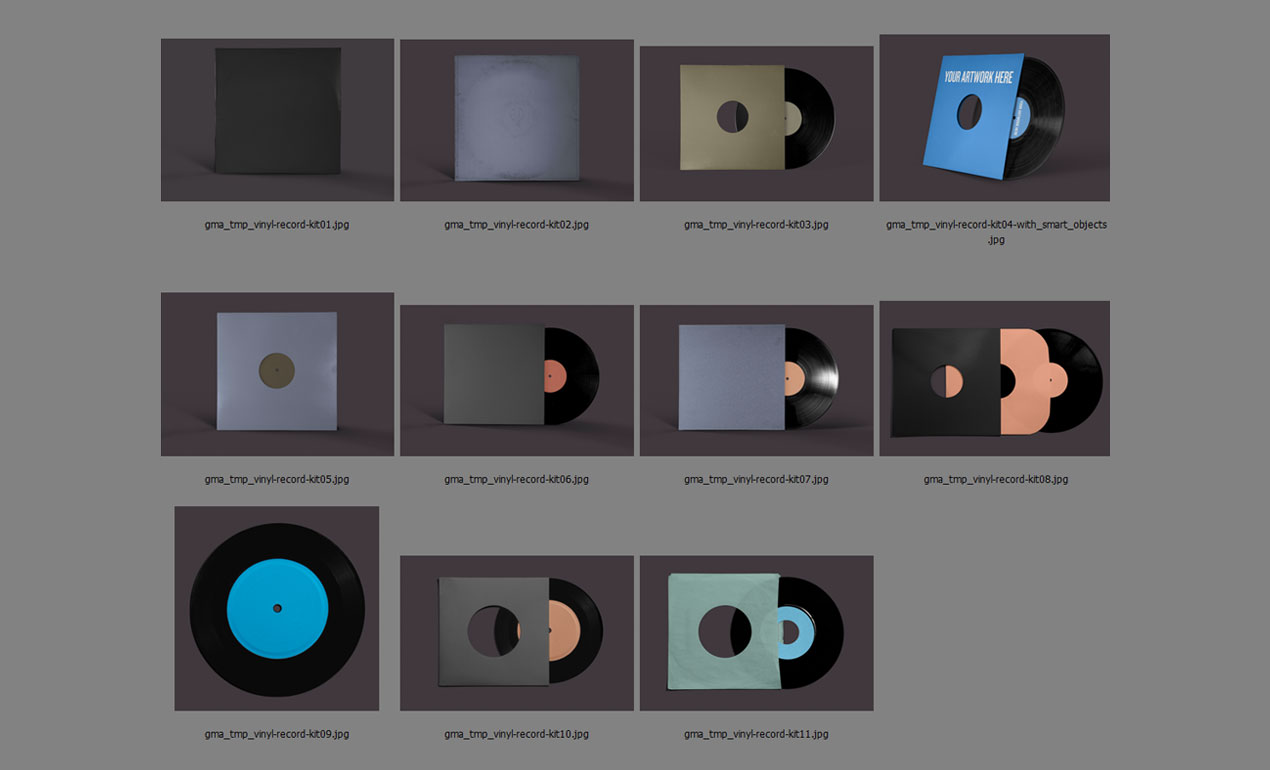 Photoshop vinyl records mockup template pack adobe photoshop template vinyl all maxwellsz