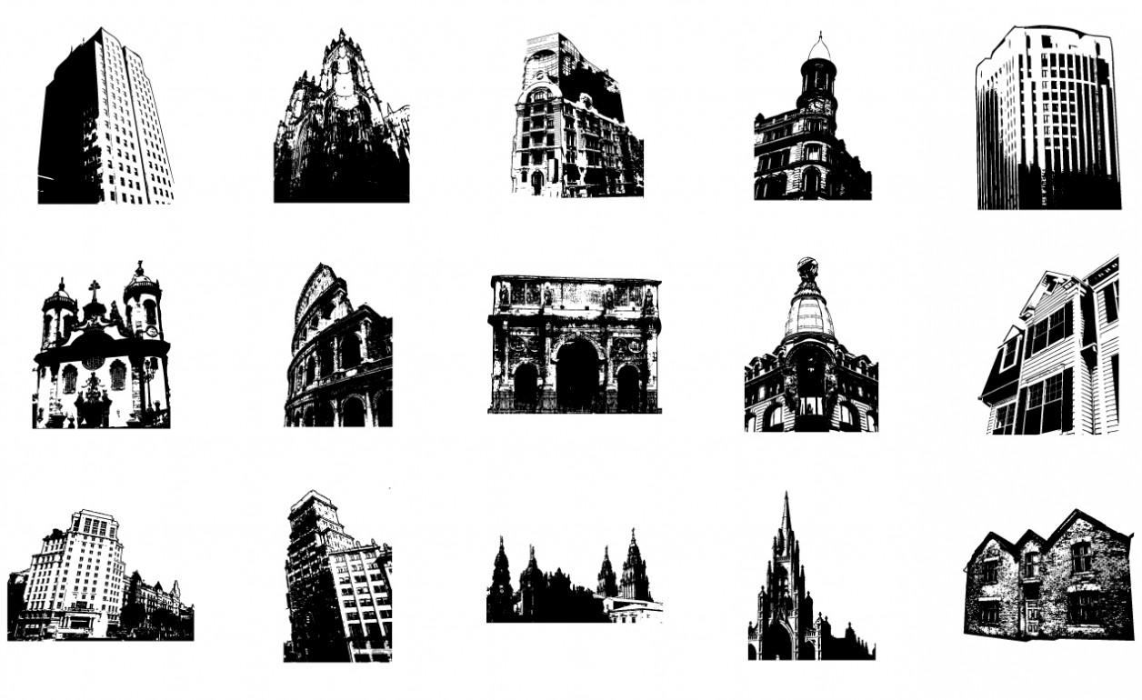 Adobe Illustrator Architecture Vector Art Pack