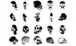 Adobe Illustrator Skull Vector Art