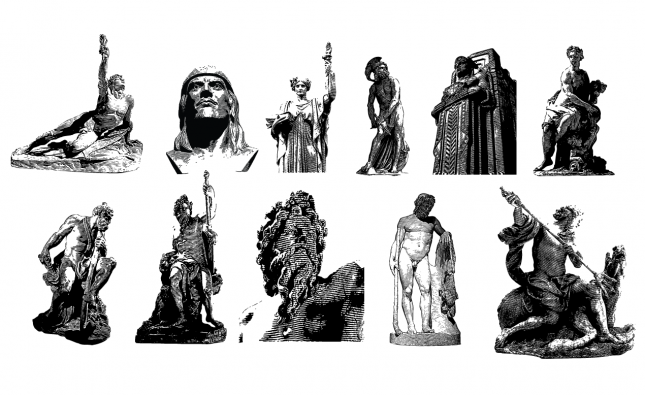 Statues Vector Pack for Adobe Illustrator