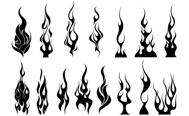 flames vector pack