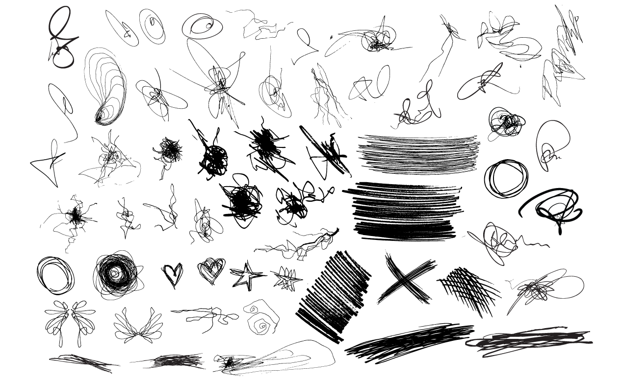 Drawing Of Scribbles : Adobe illustrator scribbles vector pack