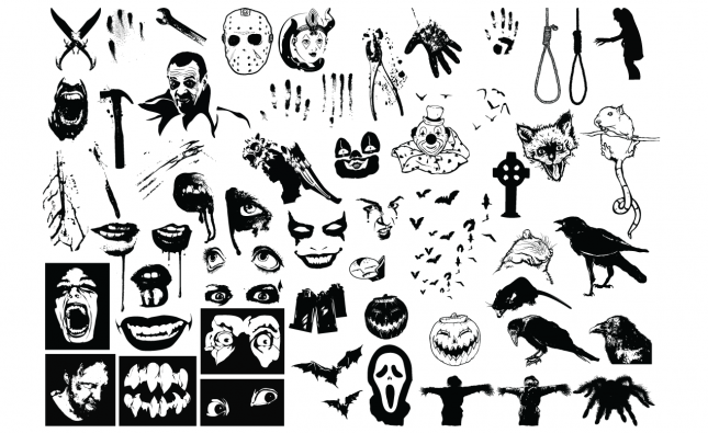 Adobe Illustrator Vector Set 07 Horror Preview All