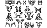 Damask Shapes Vector Pack
