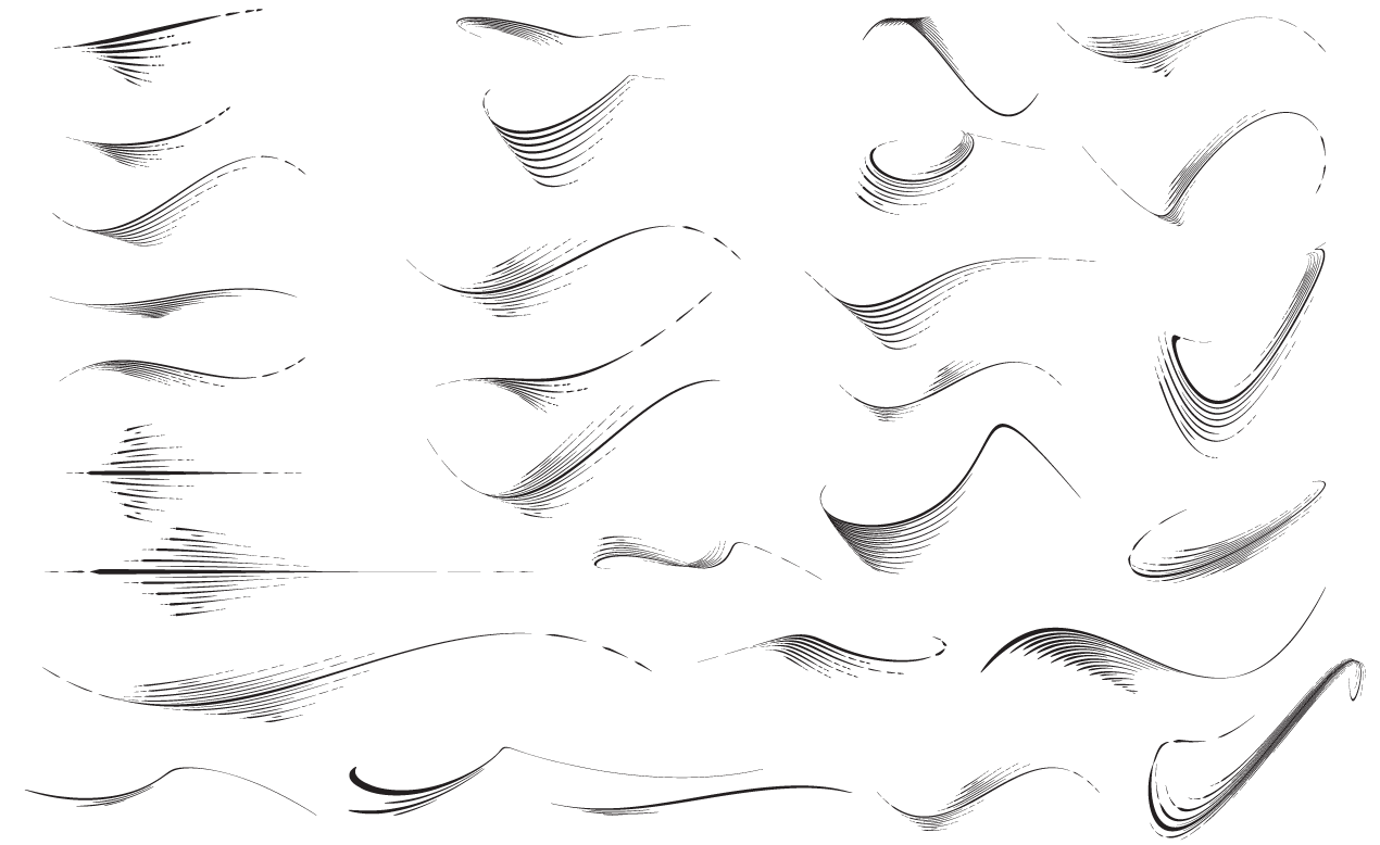 flourish vector sample pack - photo #31