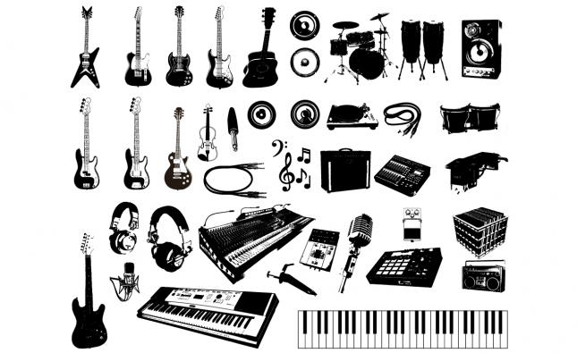 Adobe Illustrator Vector Set 08 Music Preview All