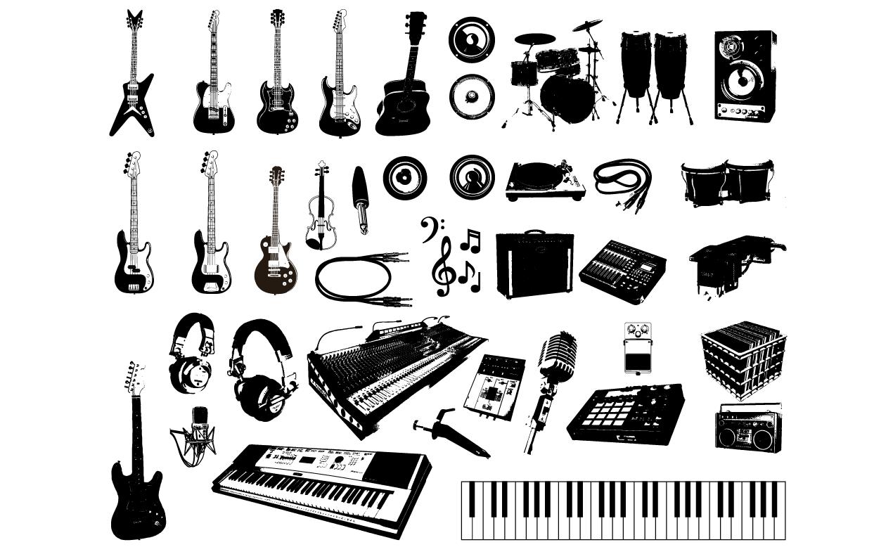 music vector pack for adobe illustrator rh arsenal gomedia us vector musician vector musician