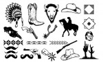 Western Vector Pack for Adobe Illustrator