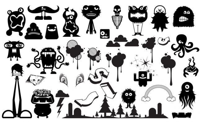 Cute Monster Vector Pack for Adobe Illustrator