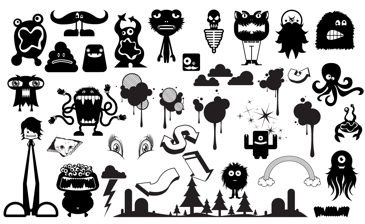 monster vector pack for adobe illustrator rh arsenal gomedia us vector images png vector images png